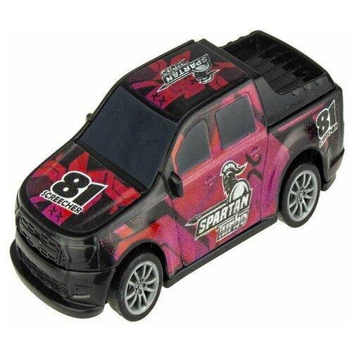 Внедорожник 1 TOY CrashFest Spartan (Т17090-15), 10 см, черный/розовый недорого