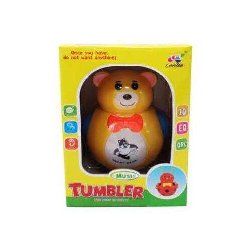Купить Игрушка для малышей. Неваляшка Медвежонок, звуковые эффекты, 13x19x12см, Junfa toys, Неваляшки