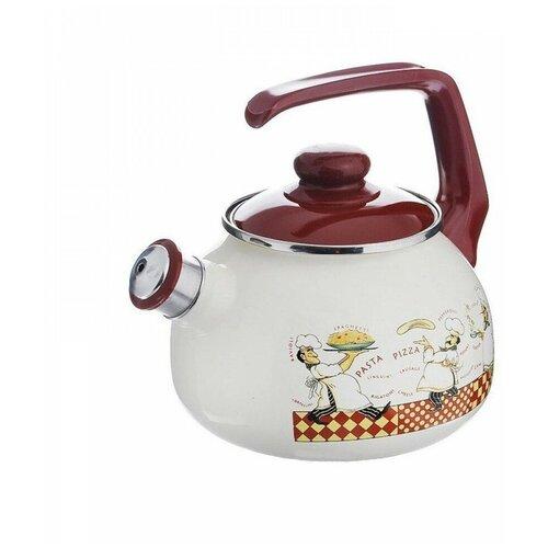 Фото - METROT Чайник cо свистком Повара 2,5 л, белый чайник эмалированный со свистком 2 5 л metrot таково кухня 115432