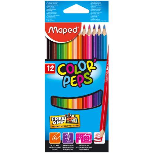 Фото - Maped Цветные карандаши Color Peps 12 цветов (183212) карандаши набор 18цв аквар maped color peps aqua кисть