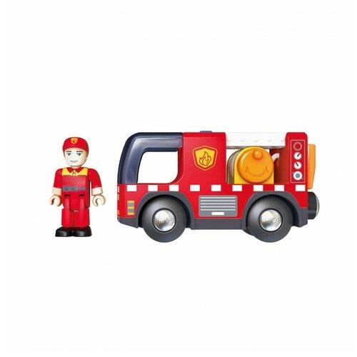 Пожарная машина Hape с сиреной E3737_HP