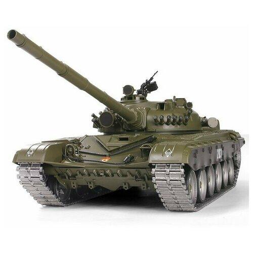 Фото - Радиоуправляемый танк Heng Long T-72 UpgradeA V6.0 2.4G 1/16 RTR, HL3939-1UA6.0 радиоуправляемый танк heng long радиоуправляемый мини танковый бой cs toys 9819