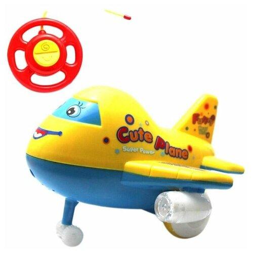 Самолет Shantou Gepai ZYB-B0363 желтый/голубой недорого