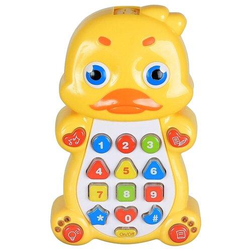Интерактивная развивающая игрушка Play Smart Детский смартфон Уточка, желтый