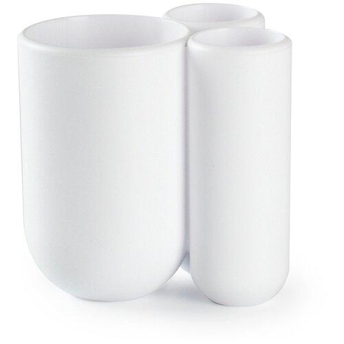 Фото - Стакан для зубных щеток Umbra Touch, белый стакан для зубных щеток touch 10х10х8 см серый 023271 918 umbra
