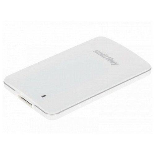 Фото - Внешний твердотельный накопитель фирмы Smartbuy драйвер 256 ГБ С3 (с USB3.0, 425/400Mbs, TLC, в 1.8) Белый внешний ssd smartbuy 1 0 tb s3 drive usb3 0 425 400mbs tlc 1 8 белый