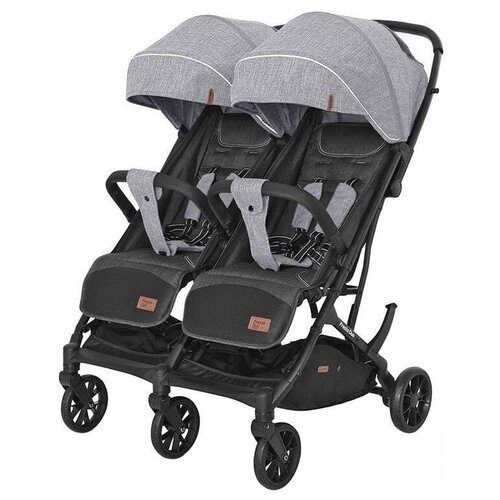 Купить Прогулочная коляска для двойни CARRELLO Presto Duo CRL-5506, pitch grey, Коляски