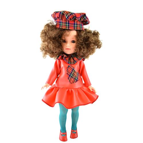 Купить Кукла Vidal Rojas Мари кудрявая брюнетка в красном платье, 41 см, 5509, Куклы и пупсы