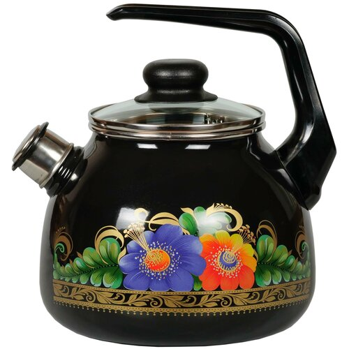 СтальЭмаль Чайник Appetite со свистком 4с209я 3 л, черный