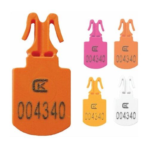 Пломбы пластиковые номерные мини, для опломбирования сумок, контейнеров, цвет ассорти, комплект 250 шт. 603791
