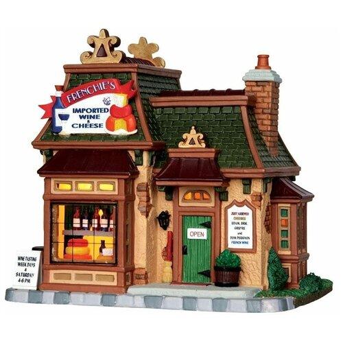 фигурка lemax платформа с рождественскими игрушками 10 4 x 18 x 10 см красный зеленый Фигурка LEMAX Магазин вина и сыра 17.5 x 18.8 x 14.5 см коричневый/зеленый