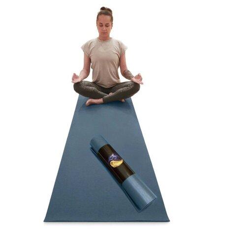 Фото - Коврик для йоги и фитнеса детский RamaYoga Yin-Yang PRO цвет синий размер 150 х 60 х 0,45 см платок женский troll цвет темно синий молочный tsa0345gr размер 150 см х 150 см