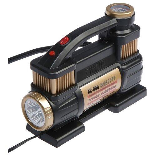 Компрессор автомобильный CityUP, АС-606, 12 В, 300 Вт, 10 атм, 60 л/мин, двухцилиндровый 4966855