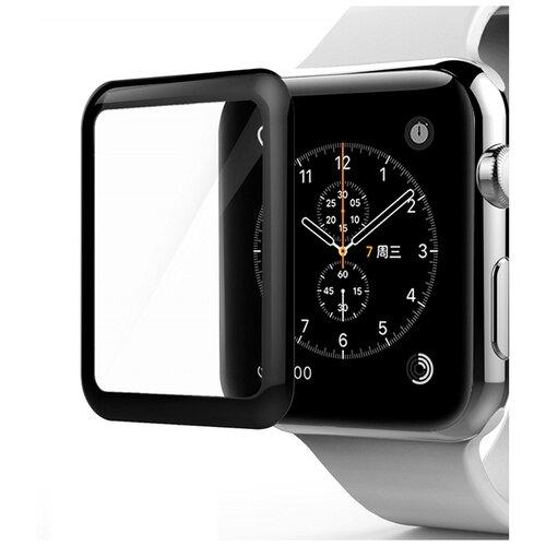 Защитное стекло для Apple Watch 1 Apple Watch 2 и Apple Watch 3 / Премиум защитное стекло для смарт часов Эпл Вотч Серии 1 2 и 3 полная проклейка экрана 4D Full glue (42mm)