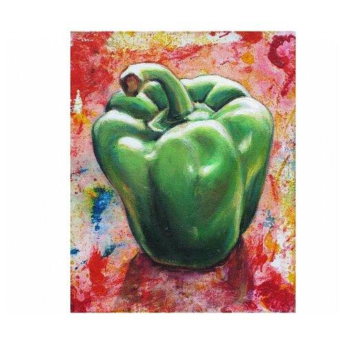 Фото - Алмазная живопись Набор алмазной вышивки Зеленый перец (АЖ-1381) 24х30 см алмазная живопись набор алмазной вышивки дружные синички аж 1475 24х30 см