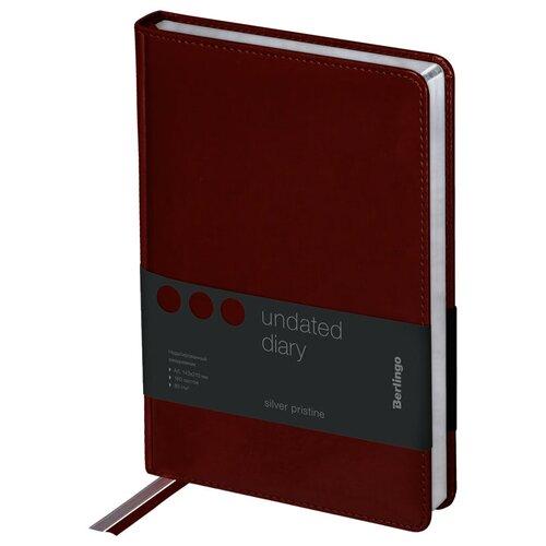 Ежедневник Berlingo Silver Pristine недатированный, искусственная кожа, А5, 160 листов, коричневый