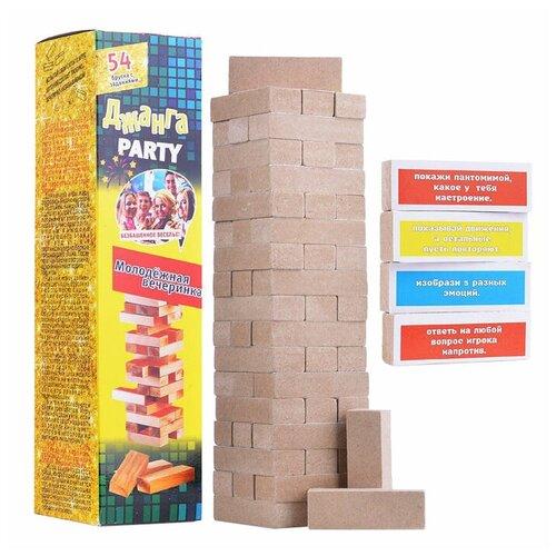 Настольная игра Задира-Плюс Джанга Party Молодежная вечеринка по цене 462