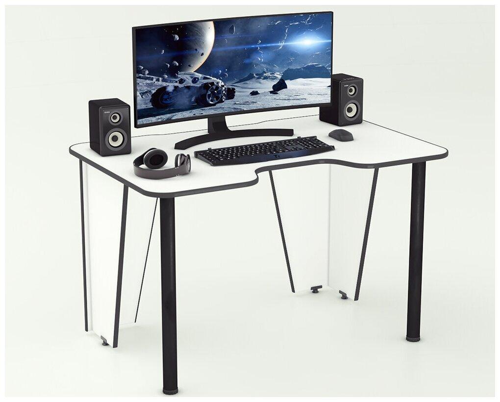 Геймерский компьютерный стол Бело-черный Xplace-01 — купить по выгодной цене на Яндекс.Маркете
