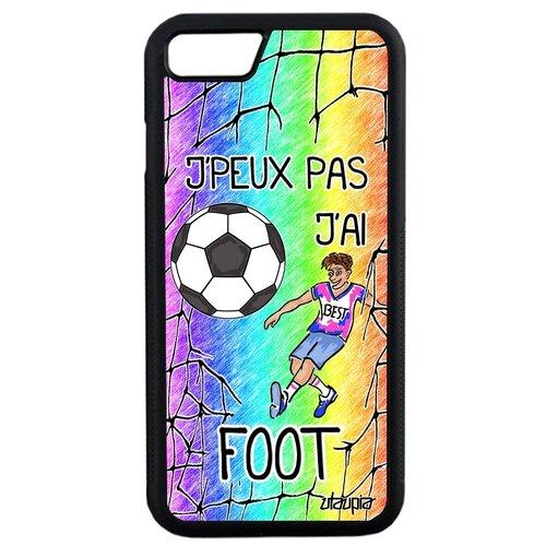 "Чехол для телефона iPhone SE 2020, ""Не могу - у меня футбол!"" Спорт Карикатура"