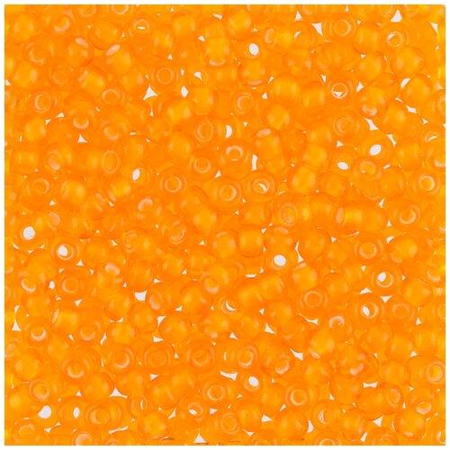 Купить Бисер Чехия Gamma круглый 6 10/0 2.3 мм 50 г 1-й сорт F622 оранжевый ( 95006 ), Фурнитура для украшений