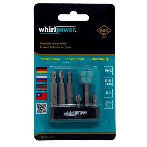 Фото - Бит WhirlPower 27180702, 7 предм., синий набор бит whirlpower 962 22 2002 2 2 предм