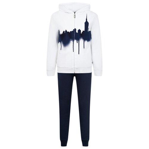 Спортивный костюм Il Gufo размер 140, белый/синий, Спортивные костюмы  - купить со скидкой