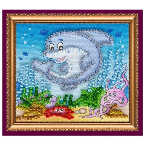 Фото - Набор для вышивания с магнитом АБРИС АРТ AMA-002 Подводное царство 8х7см подводное царство
