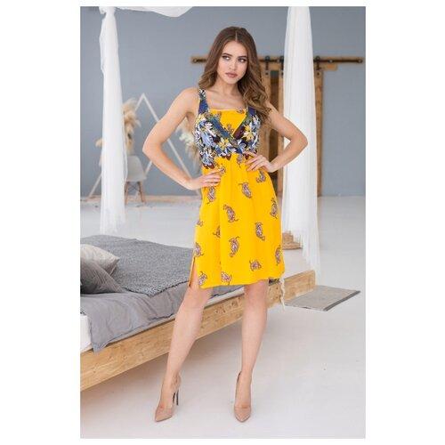Фото - Пляжное платье Mia-Mia Sole Viva размер XL(50) желтый платье oodji collection цвет карамель 24001104 5b 47420 4b00n размер xl 50