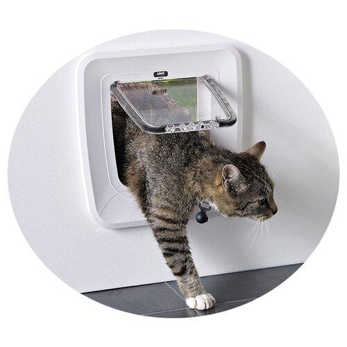 Дверца для кошек MAGNETIC 28,5x29,5см пластик белая