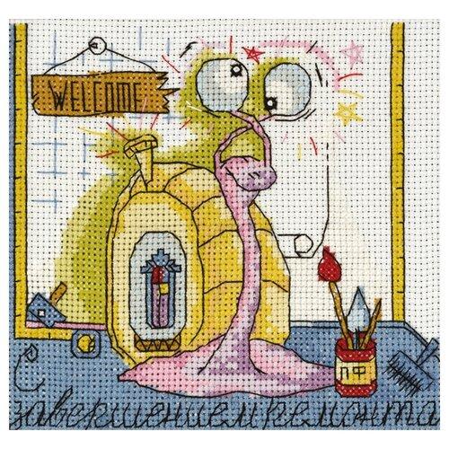 Купить PANNA Набор для вышивания Праздничные миниатюры. С завершением ремонта 14 x 13.5 см (OT-1358), Наборы для вышивания