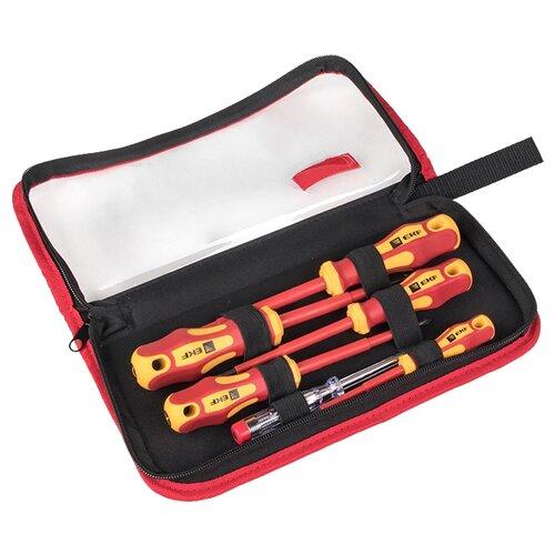 Набор инструментов EKF (6 предм.) НИО-06 желтый/красный набор инструментов для точных работ rexant 37 предм 12 4702 желтый красный