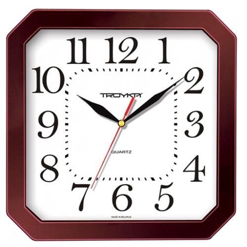 Часы настенные кварцевые Тройка 31331316 коричневый.