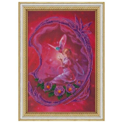 Купить Набор для вышивания бисером АБРИС АРТ AB-004 Фея 40х27, 5 см, ABRIS ART, Наборы для вышивания