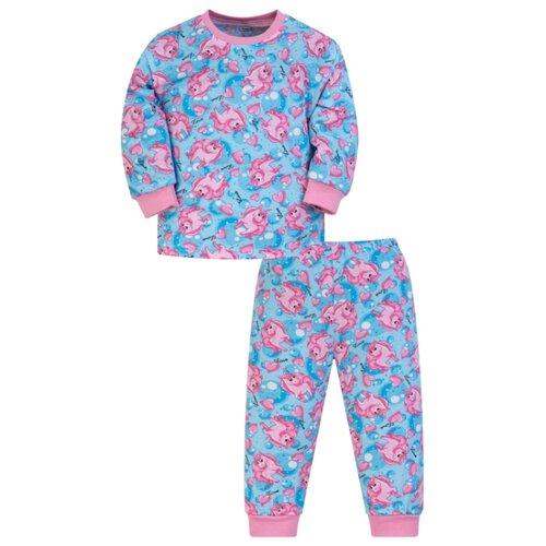 Пижама Утенок размер 86, голубой/розовый
