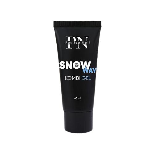 Фото - Акригель Patrisa Nail Kombi Gel Snow Way для моделирования с шиммером, 60 мл молочный мерцающий акригель bluesky pudding gel для моделирования 60 мл прозрачный