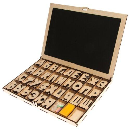 Набор букв Бизикуб Алфавит-кейс Магнитная Азбука деревянные игрушки бизикуб алфавит русский с цифрами и знаками