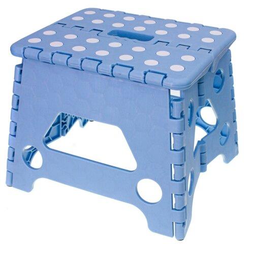Табурет складной PROFFI KITCHEN PKT0153, малый, голубой