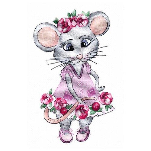 Купить Овен Набор для вышивания Мышка вертихвостка 13 x 20 см (1201), Наборы для вышивания