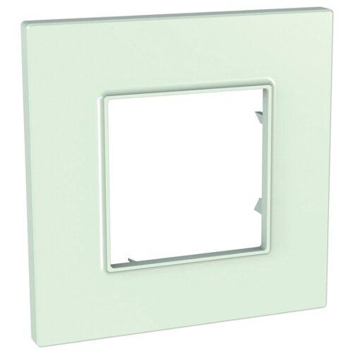 Рамка 1п Schneider ElectricMGU2.702.17, матовое стекло