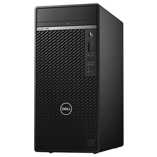 DELL Optiplex 7080 MT (7080-6512) Mini-Tower/Intel Core i7-10700/16 ГБ/512 ГБ SSD/Intel UHD Graphics 630/Windows 10 Pro, черный
