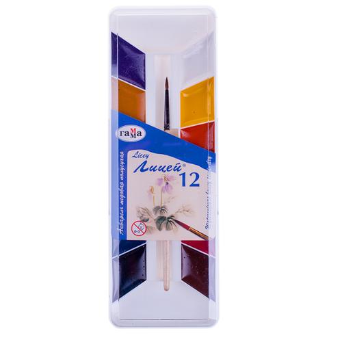 Купить ГАММА Краски акварельные медовые Лицей, 12 цветов (212066)