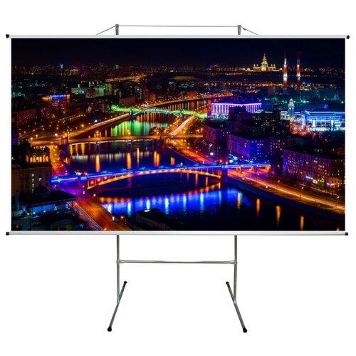 Экран для проектора про-экран на треноге 275 на 155 см (16:9), 124