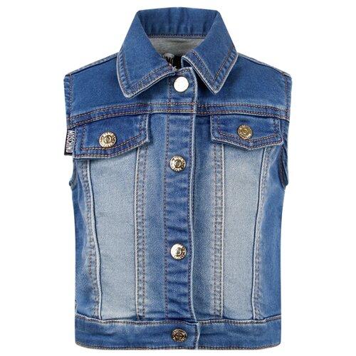 Купить Жилет MOSCHINO размер 86-92, синий, Джемперы и толстовки
