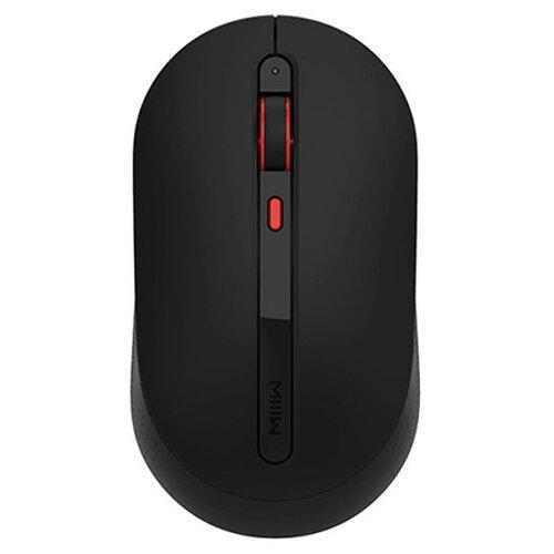 Беспроводная мышь Xiaomi MIIIW Wireless Mute Mouse, черный беспроводная мышь xiaomi miiiw dual mode portable mouse lite version розовый