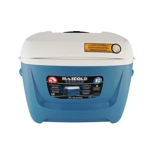 Термоэлектрический автохолодильник Igloo Maxcold 62 Roller blue