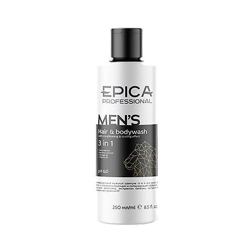 Купить Шампунь для волос и тела 3 в 1 Epica professional Men's, 250 мл