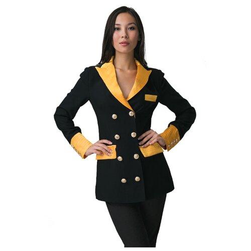 Пиджак Mersada (черный; ярко-желтый; золотистый) размер 38