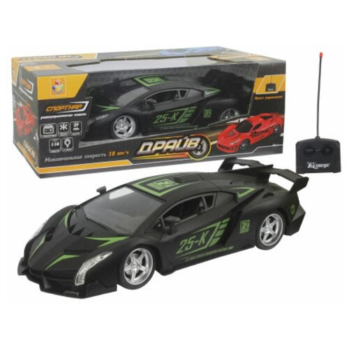 Купить Гоночная машина 1 TOY Т13856 1:16 черный, Радиоуправляемые игрушки