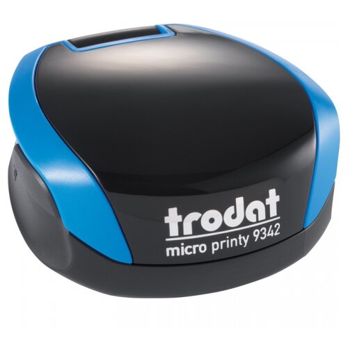 Оснастка Trodat 9342 Micro Printy круглая синяя корпус синий