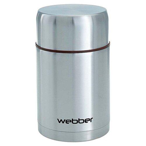 Термос для еды Webber SSB-1000N, 1 л серебристый